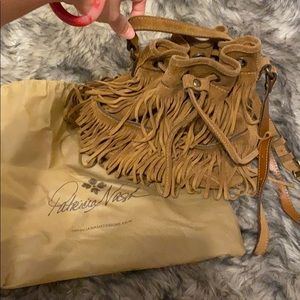Patricia Nash suede Fringe Crossbody bag